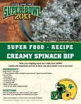 Super Bowl Superfood Spinach Dip